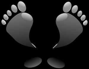 https://pixabay.com/en/feet-toes-footprints-black-glossy-150541/
