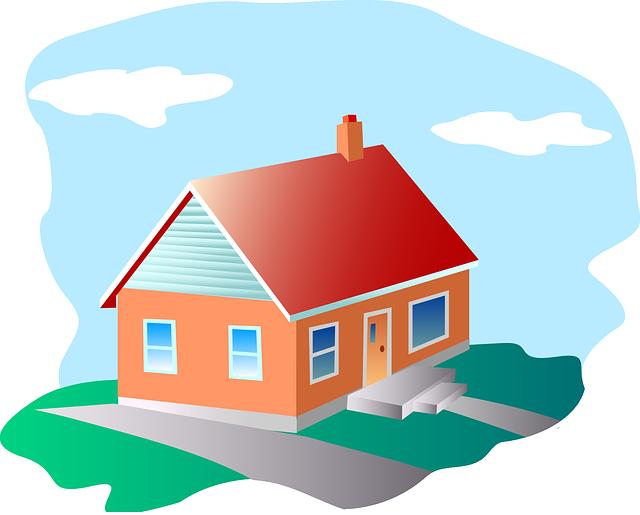 https://pixabay.com/en/house-red-roof-orange-walls-blue-48916/