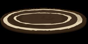 https://pixabay.com/en/rug-carpet-brown-white-oval-round-576081/