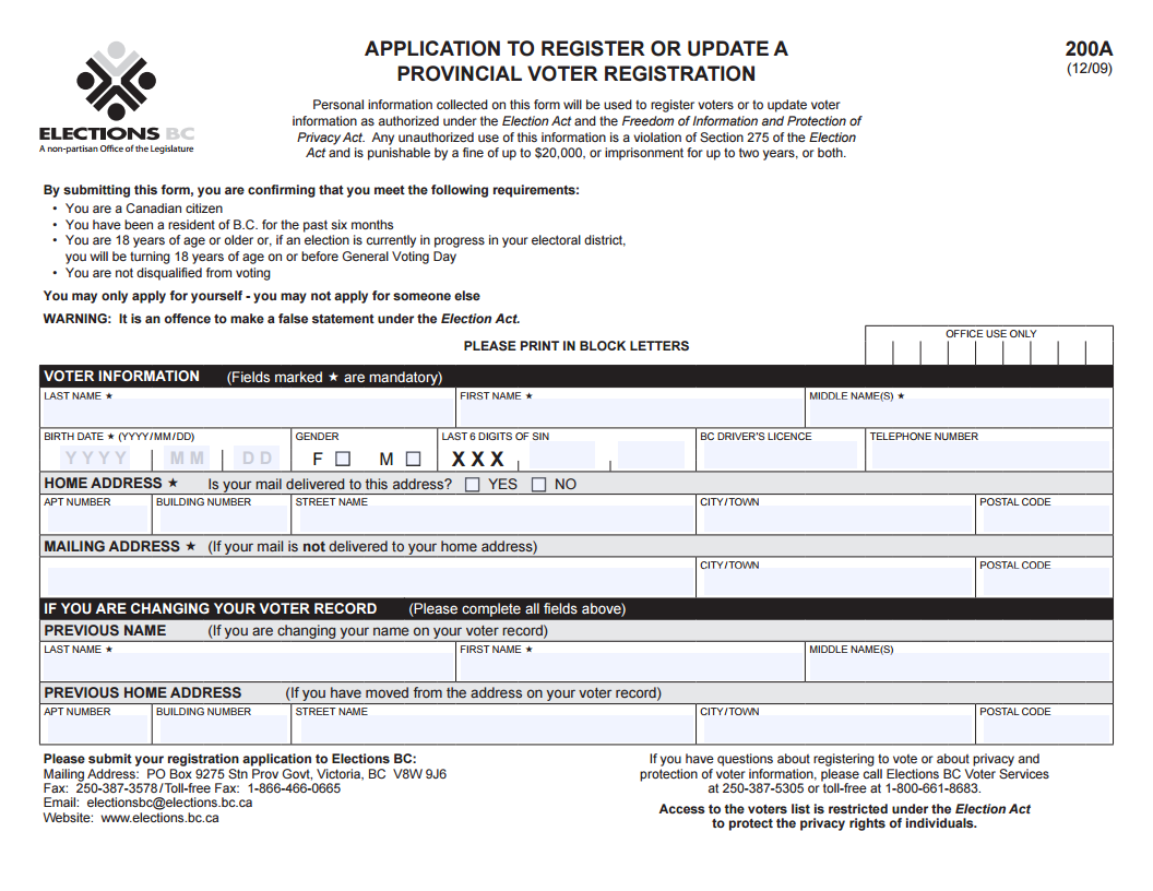 Appendix 1 - Register to Vote