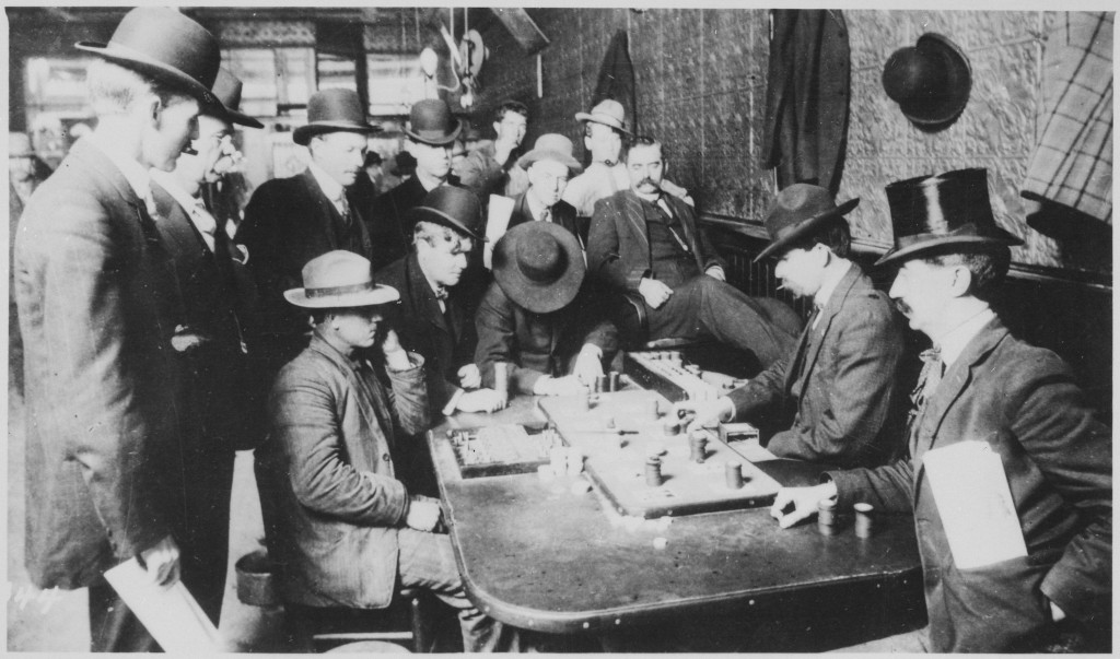 http://commons.wikimedia.org/wiki/File:%22Orient_Saloon_at_Bisbee,_Arizona..._Faro_game_in_full_blast._Recognized,_Left_to_right-Tony_Downs_(standing_with_derby)_-_NARA_-_530986.jpg