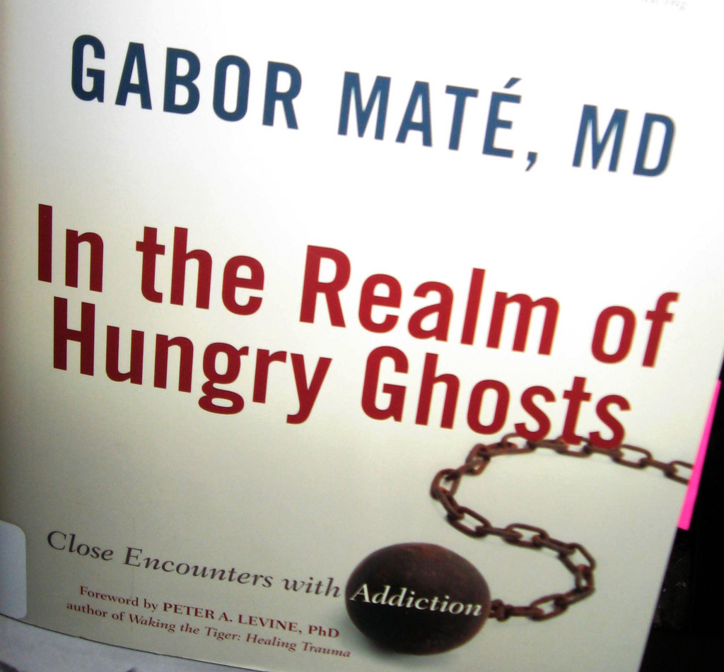 "cover of the book ""in the realm of hungry ghost"" by Gabour Maté"
