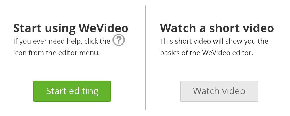 Start Editing - screenshot