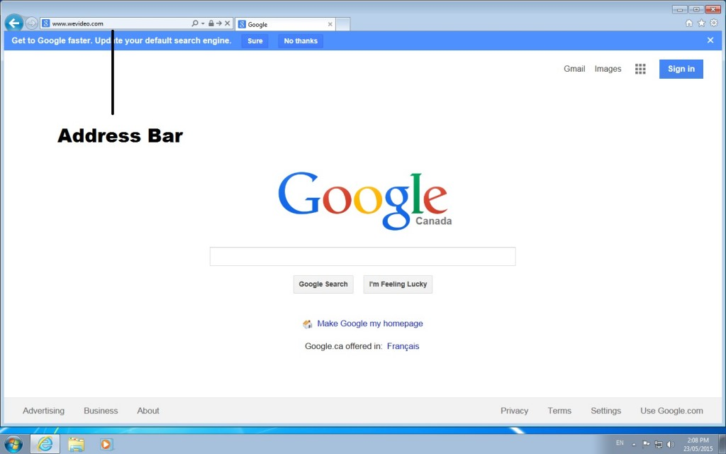 address bar - screenshot