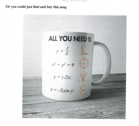 Coffee cup that says All You Need is Love
