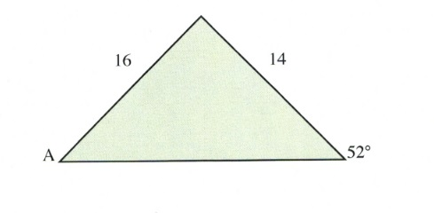 Traingle with 52 degree, 16 and 14 sides