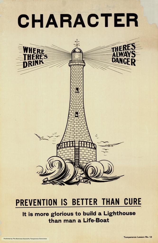A poster promoting temperance. Long description available.
