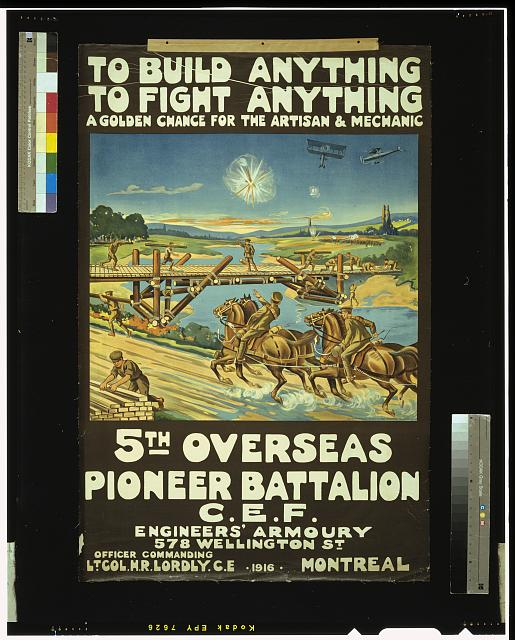 Recruitment poster for World War I. Long description available.