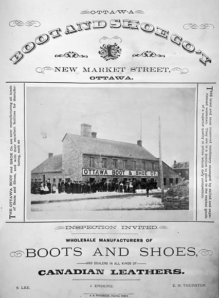 Ad for Ottawa Boot and Shoe Co.