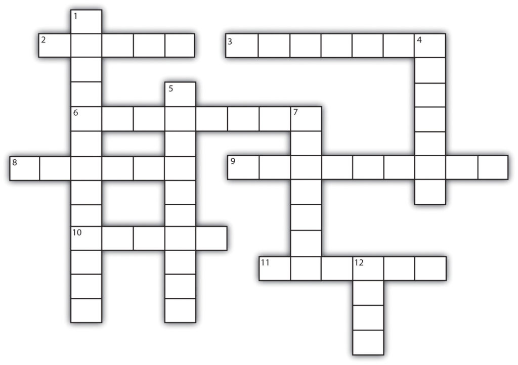 A blank crossword puzzle
