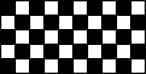 A checkerboard is shown. It has 10 squares across the top and 5 down the side.