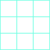 A square is shown. It is comprised of nine smaller squares.