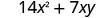 14 x squared plus 7 x y.
