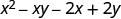 x squared minus x y minus 2 x plus 2 y.