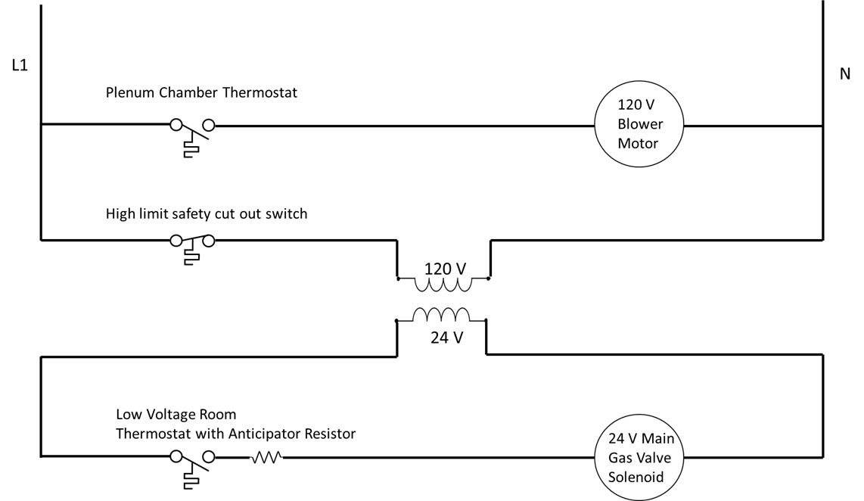 A circuit diagram, described in the surrounding text.