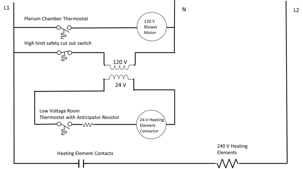 A complex circuit diagram. Described in the surrounding text.