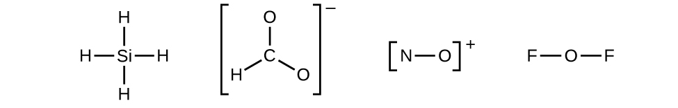 four lewis diagrams are shown the first shows one silicon single boned to four hydrogen - Periodic Table Lewis Symbol