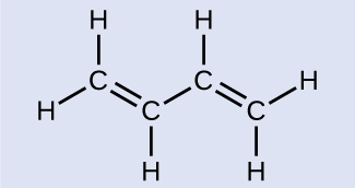 This Figure Shows A Molecule Composed Of Four Carbon Atoms There Is Double Bond