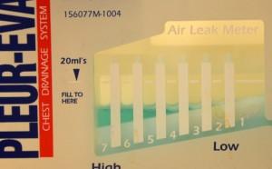 Air leak meter