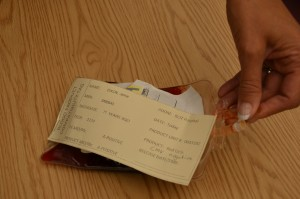 Visual inspection of the blood bag