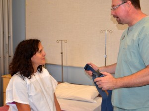 Assessment and instructions prior to ambulation