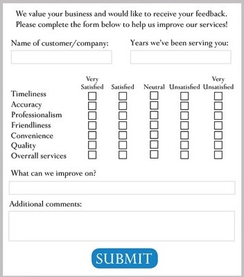 An interactive form with empty check and text boxes.