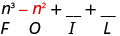 n cubed minus n squared plus blank plus blank. Beneath minus n squared is the letter O.