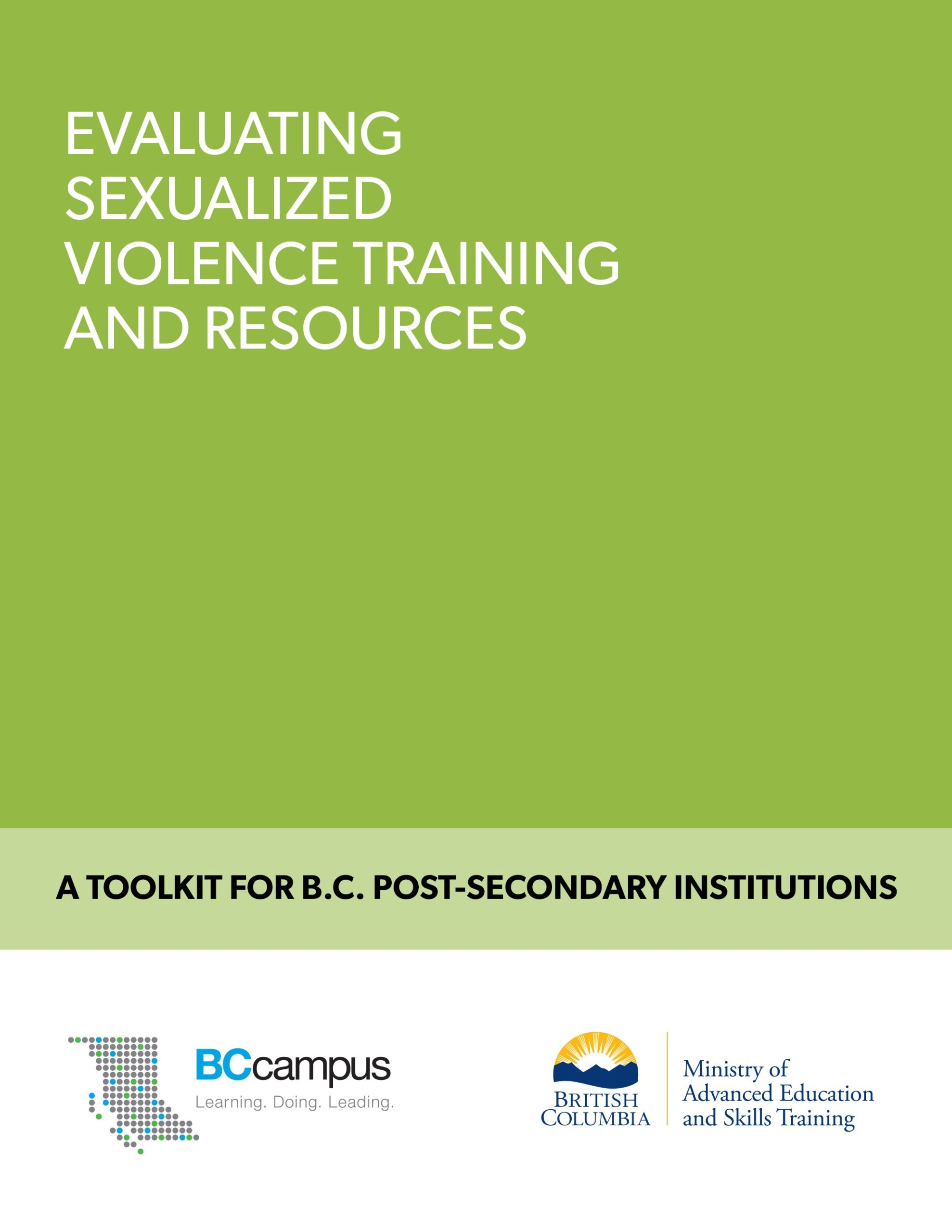 Cover image for Evaluating Sexualized Violence Training and Resources