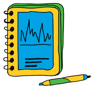 A drawing of an activity packet