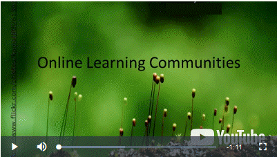 """A screenshot of a video titled """"Online Learning Communities"""""""