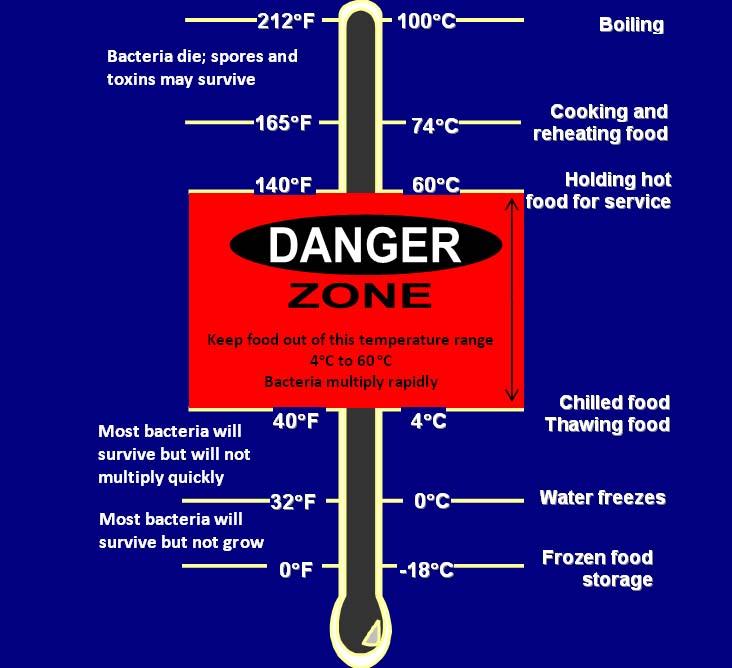 Temperature chart. Long description available.