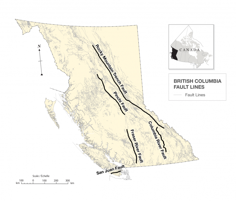 Figure 3. British Columbia fault lines