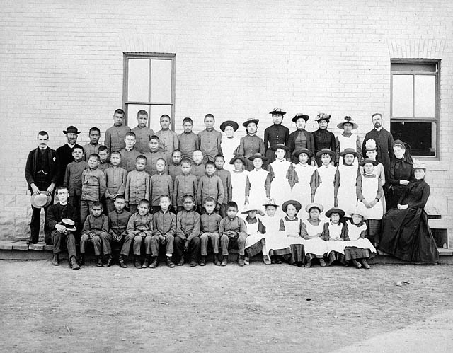 Figure 2. Residential School children. St. Paul's Indian Industrial School, Middlechurch, Manitoba, 1901