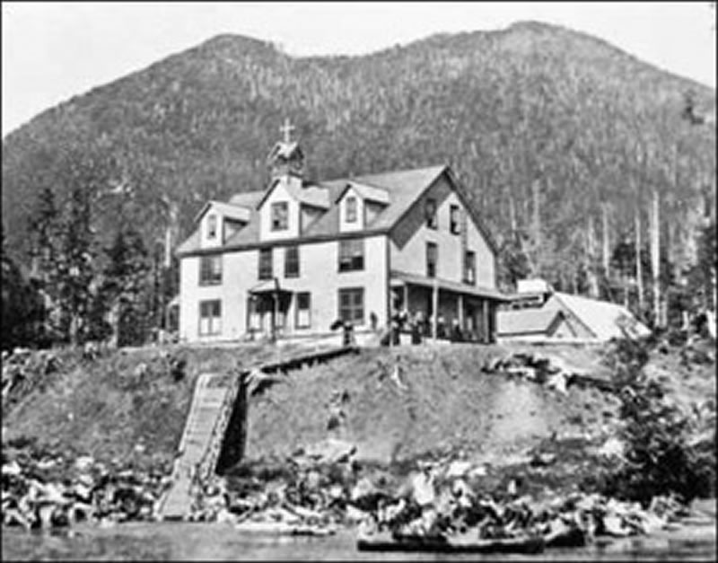 Figure 3. Christie (Kakawis) Indian Residential School on Meares Island