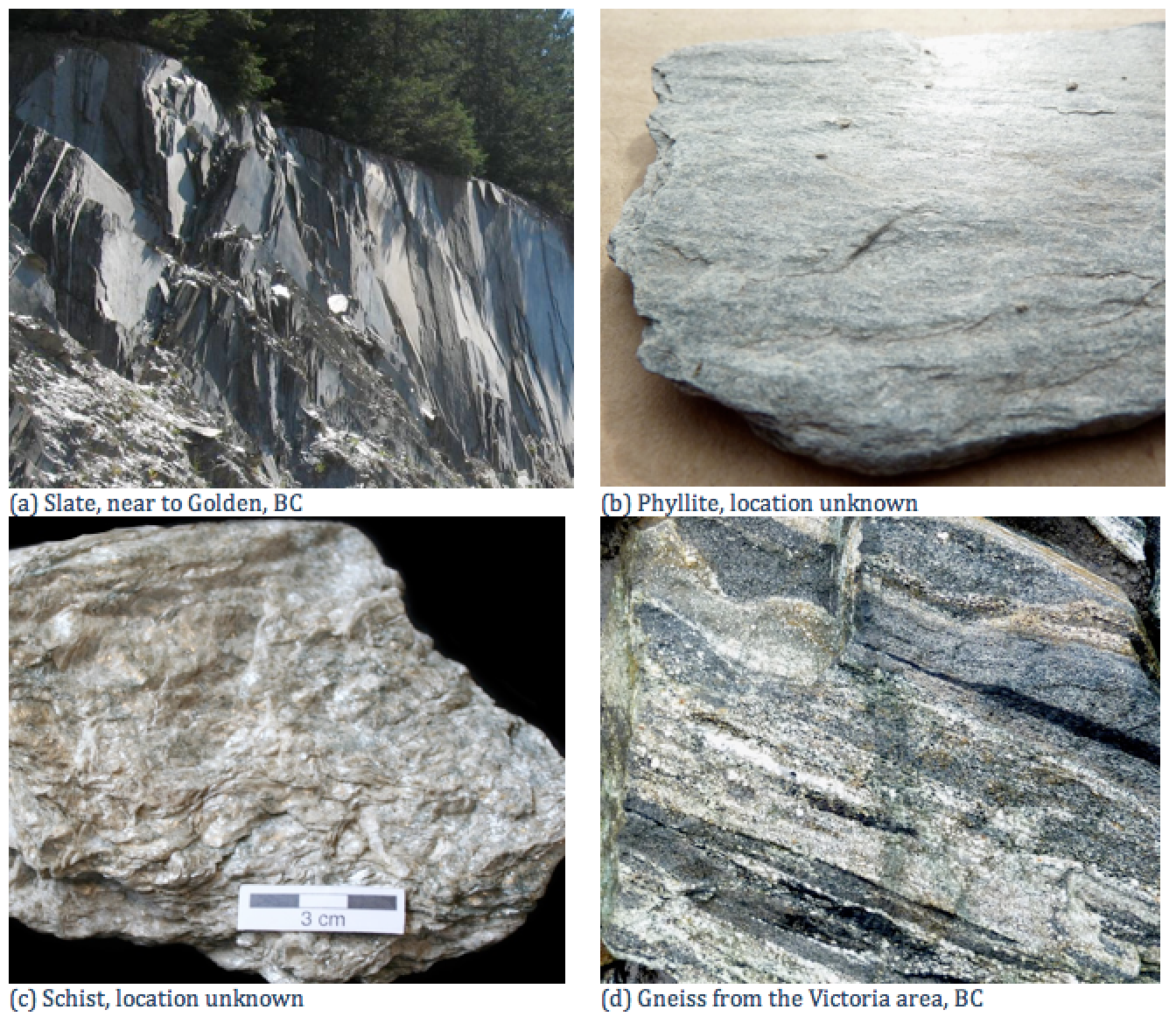 10.2 Classification of Metamorphic Rocks | Physical Geology ...