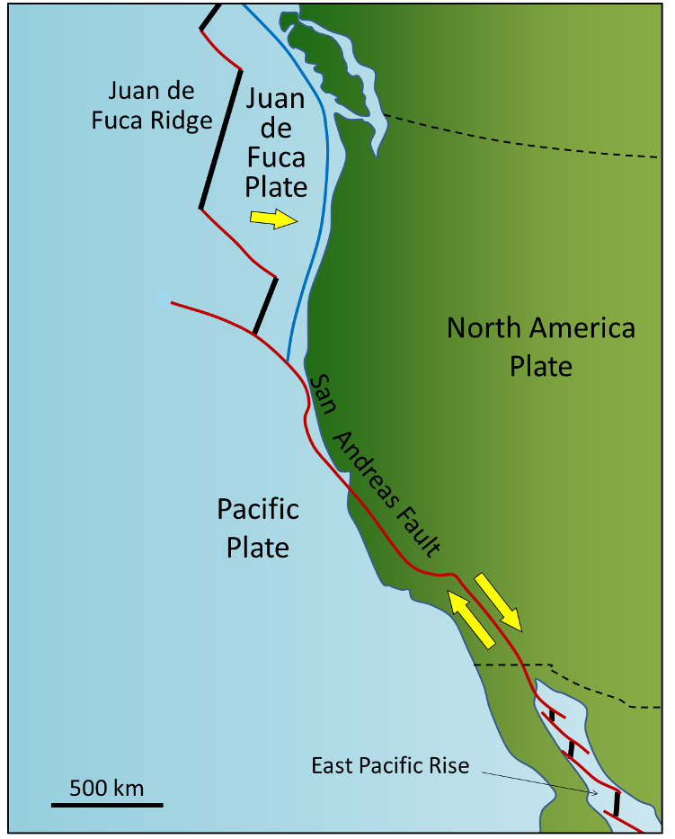 Plates Plate Motions And PlateBoundary Processes - Pate boundaries off the coasts us map