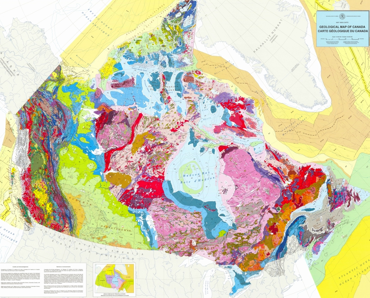 Geological Map Of Bc Geological map of Canada – Physical Geology