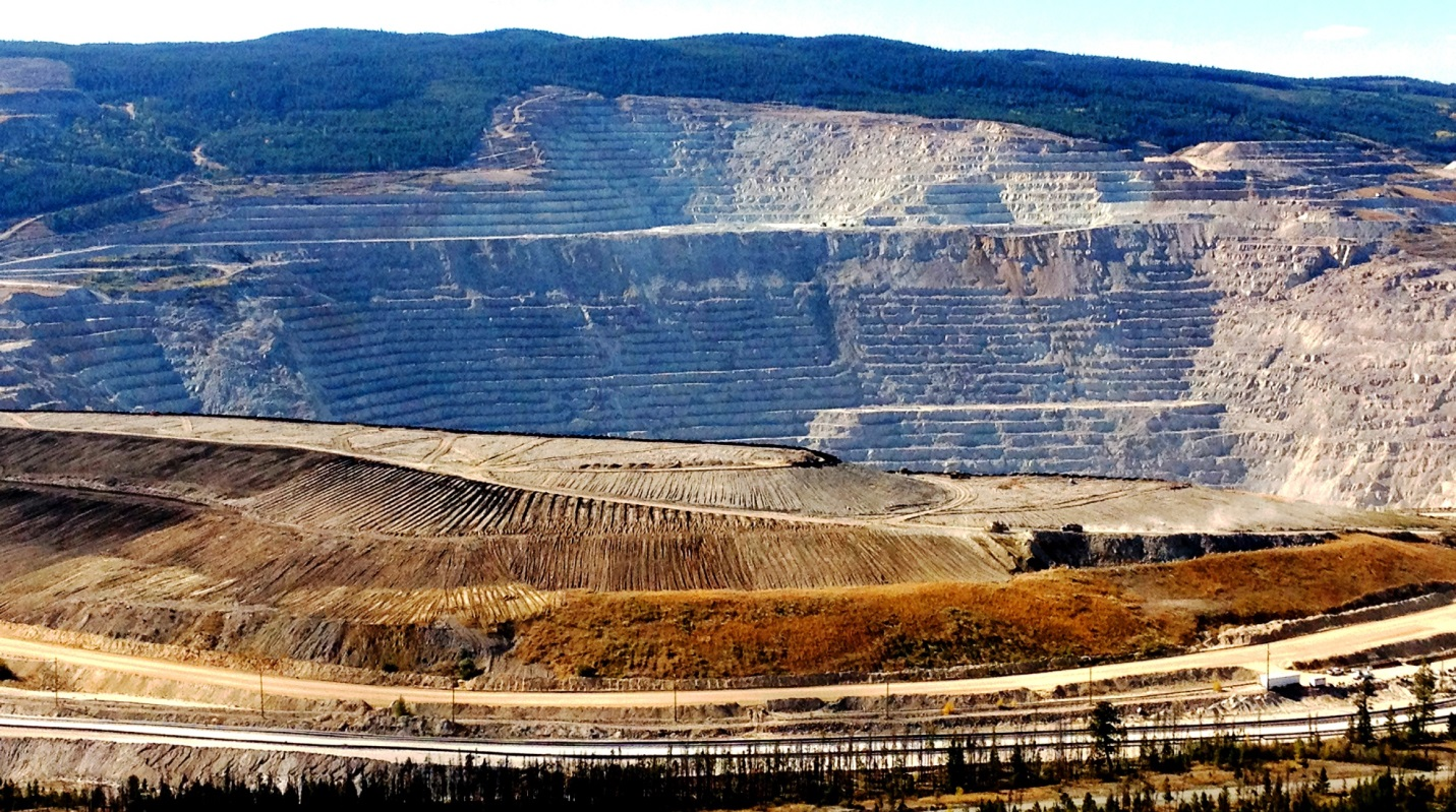 Highland Valley Copper Mine At Logan Lake Physical Geology