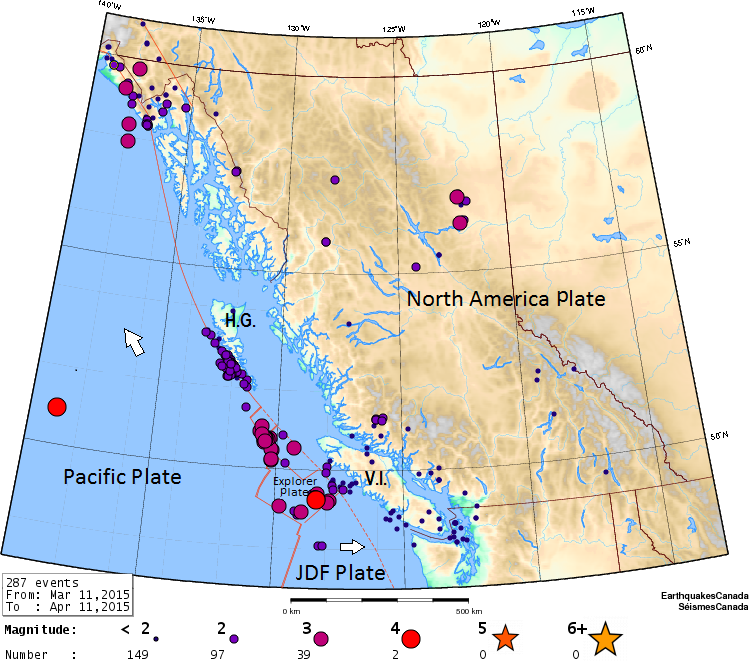 Earthquakes in British Columbia