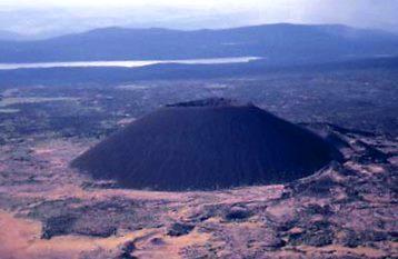 Eve Cone, situado cerca de Mt. Edziza en norte de Columbia Británica, formada hace aproximadamente 700 años