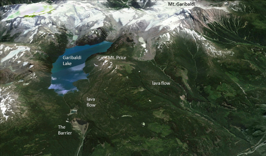 Perspective view of the Garibaldi region