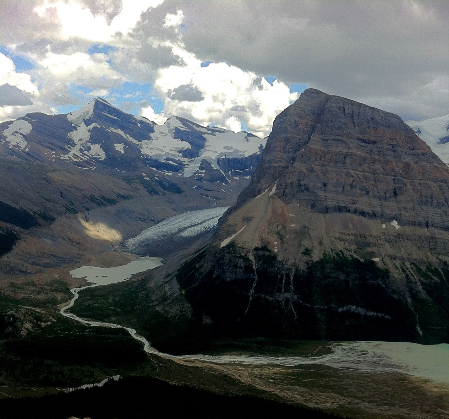 Photograph of Rearguard Mt. and Robson Glacier in the Rocky Mountains of British Columbia [SE]