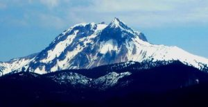Figure 4.1 Mt. Garibaldi, near Squamish B.C., is one of Canada's tallest (2,678 m) and most recently active volcanoes. It last erupted approximately 10,000 years ago. [SE photo]