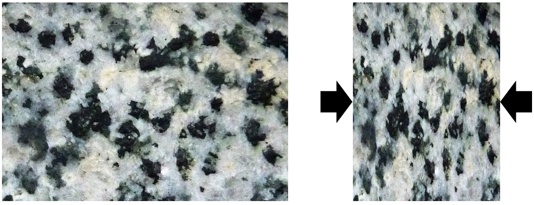 Figure 7.5 The textural effects of squeezing during metamorphism. [SE]