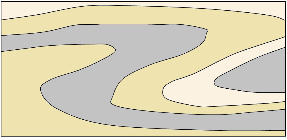 Figure 12.6 An isoclinal recumbent fold [SE]