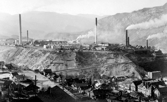 Figure 14.21 The Trail lead-zinc smelter in 1929 [http://upload.wikimedia.org /wikipedia/commons/2/20 /Trail_Smelter_in_Year_1929.png]