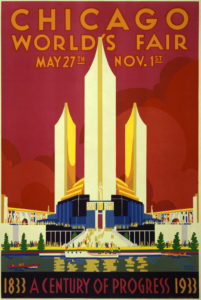 Poster of the Chicago World's Fair. Image description available.