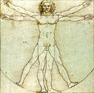 Da Vinci's painting Vitruvian Man