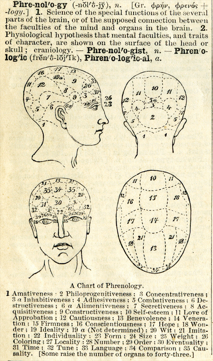 Phrenology definition. Long description available.