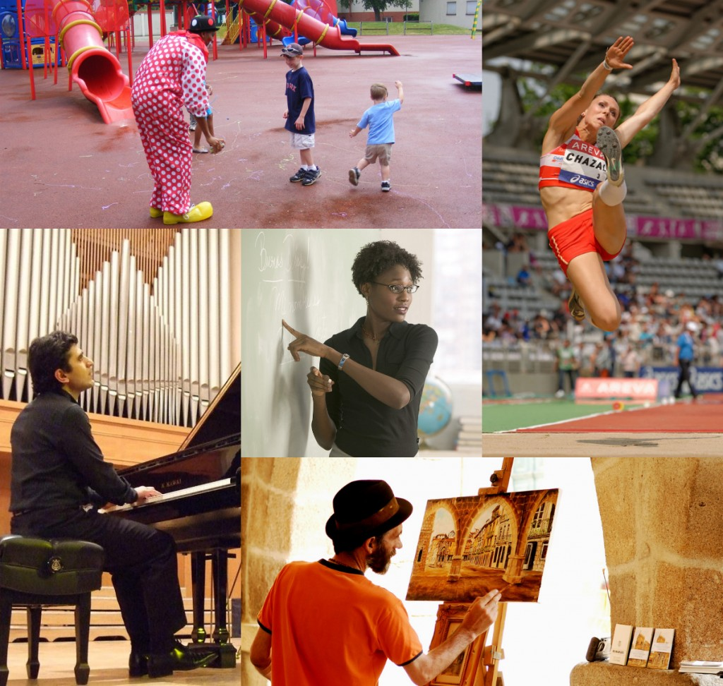 Music, math, sports, painting, and acting.